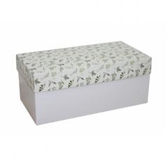 Коробка подарочная 360*180*150, дизайн 2020-1, белое дно