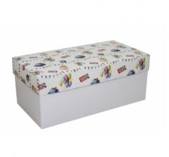 Коробка подарочная 360*180*150, дизайн 2020-8, белое дно