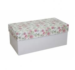Коробка подарочная 360*180*150, дизайн 2020-2, белое дно