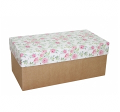 Коробка подарочная 360*180*150, дизайн 2020-2, крафт дно