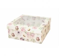 Коробка подарочная с окном 170*170*70 мм, дизайн 2020-3