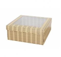 Коробка подарочная с окном 170*170*70 мм, дизайн 2020-6,