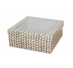 Коробка подарочная с окном 170*170*70 мм, дизайн 2020-12,