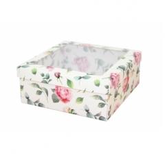 Коробка подарочная с окном 170*170*70 мм, дизайн 2020-4