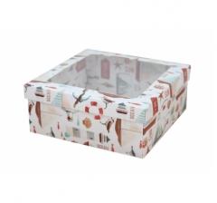 Коробка подарочная с окном 170*170*70 мм, дизайн 2020-11,