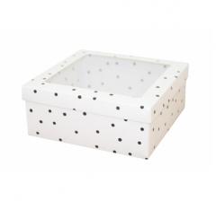 Коробка подарочная с окном 170*170*70 мм, дизайн 2020-9,