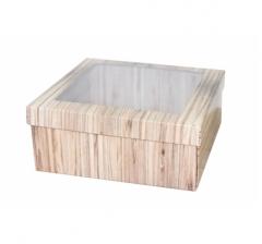 Коробка подарочная с окном 170*170*70 мм, дизайн 2020-5