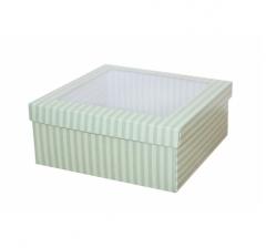 Коробка подарочная с окном 170*170*70 мм, дизайн 2020-7,