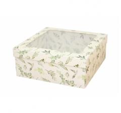 Коробка подарочная с окном 170*170*70 мм, дизайн 2020-1