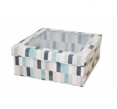 Коробка подарочная с окном 170*170*70 мм, дизайн 2020-10,