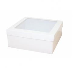 Коробка подарочная с окном 170*170*70 мм, белая