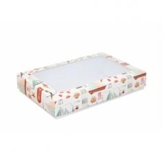 Коробка подарочная с окном 230*150*40, дизайн 2020-35