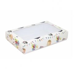Коробка подарочная с окном 230*150*40, дизайн 2020-32