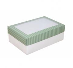 Коробка подарочная с окном 230*150*80, дизайн 2020-31 с белым дном
