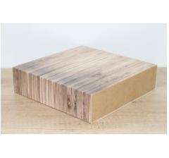 Коробка 225*225*55 мм, дизайн 2020-57 с крафт дном