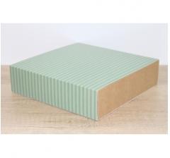 Коробка 225*225*55 мм, дизайн 2020-65 с крафт дном