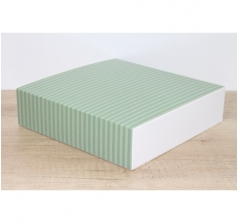 Коробка 225*225*55 мм, дизайн 2020-65 с белым дном