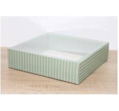Коробка 225*225*55 мм с прозрачным чехлом, дизайн 2020-65