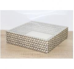 Коробка 225*225*55 мм с прозрачным чехлом, дизайн 2020-46