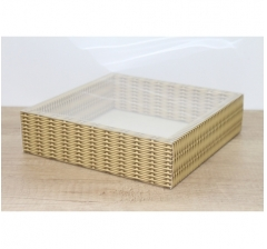 Коробка 225*225*55 мм с прозрачным чехлом, дизайн 2020-56
