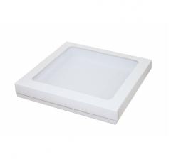 Коробка подарочная с окном 200*200*30 мм, белая