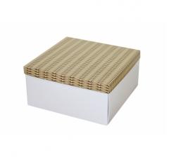 Коробка подарочная 200*200*100 мм, дизайн 2020-6, белое дно
