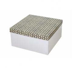 Коробка подарочная 200*200*100 мм, дизайн 2020-12, белое дно