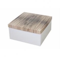 Коробка подарочная 200*200*100 мм, дизайн 2020-5, белое дно