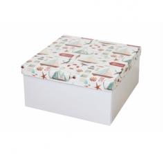 Коробка подарочная 200*200*100 мм, дизайн 2020-11, белое дно