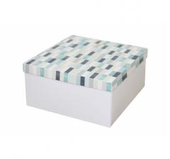 Коробка подарочная 200*200*100 мм, дизайн 2020-10, белое дно