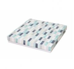 Коробка подарочная 200*200*30 мм, дизайн 2020-10, с белым дном