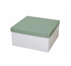 Коробка подарочная 200*200*100 мм, дизайн 2020-7, белое дно