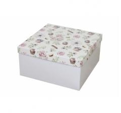Коробка подарочная 200*200*100 мм, дизайн 2020-3, белое дно