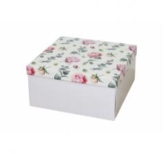 Коробка подарочная 200*200*100 мм, дизайн 2020-4, белое дно