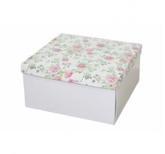 Коробка подарочная 200*200*100 мм, дизайн 2020-2, белое дно