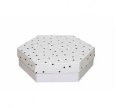Коробка подарочная 200*200*60 мм, дизайн 2020-9, белое дно