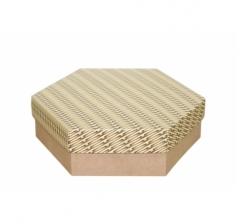 Коробка подарочная 200*200*60 мм, дизайн 2020-6, крафт дно