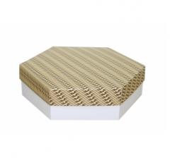 Коробка подарочная 200*200*60 мм, дизайн 2020-6, белое дно