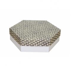 Коробка подарочная 200*200*60 мм, дизайн 2020-12, белое дно
