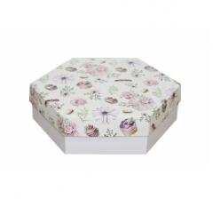 Коробка подарочная 200*200*60 мм, дизайн 2020-3, белое дно