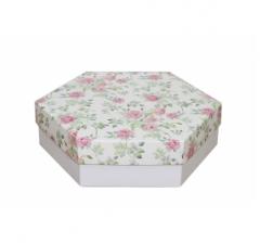 Коробка подарочная 200*200*60 мм, дизайн 2020-2, белое дно