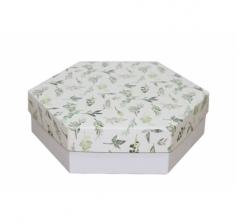Коробка подарочная 200*200*60 мм, дизайн 2020-1, белое дно