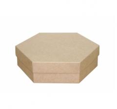 Коробка подарочная 200*200*60 мм, крафт