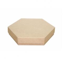 Коробка подарочная 200*200*40 мм, крафт