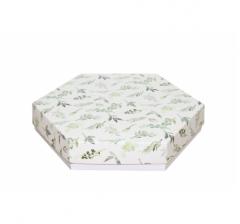 Коробка подарочная 200*200*40 мм, дизайн 2020-1, белое дно