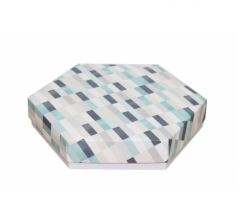 Коробка подарочная 200*200*40 мм, дизайн 2020-10, белое дно