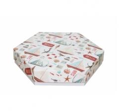 Коробка подарочная 200*200*40 мм, дизайн 2020-11, белое дно