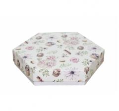 Коробка подарочная 200*200*40 мм, дизайн 2020-3, белое дно