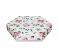 Коробка подарочная 200*200*40 мм, дизайн 2020-4, белое дно
