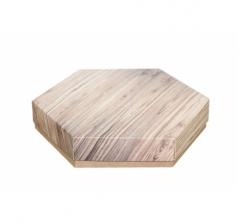 Коробка подарочная 200*200*40 мм, дизайн 2020-5, крафт дно